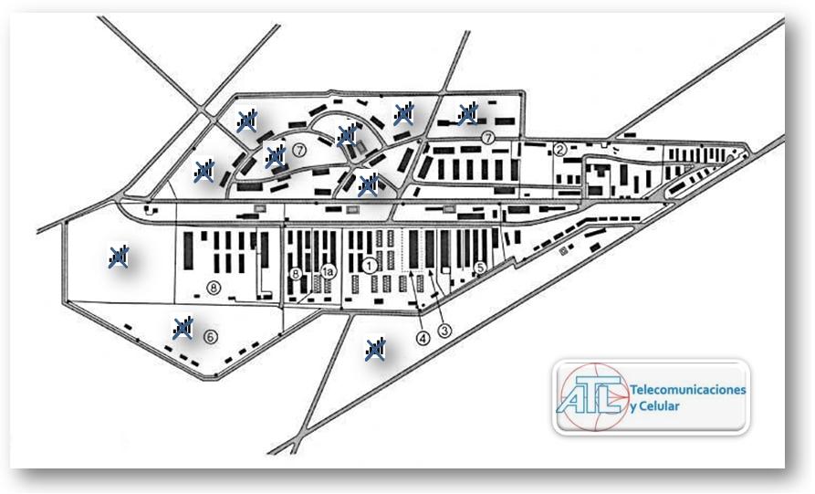 Instalación de sistema de inhibición en centro penitenciario