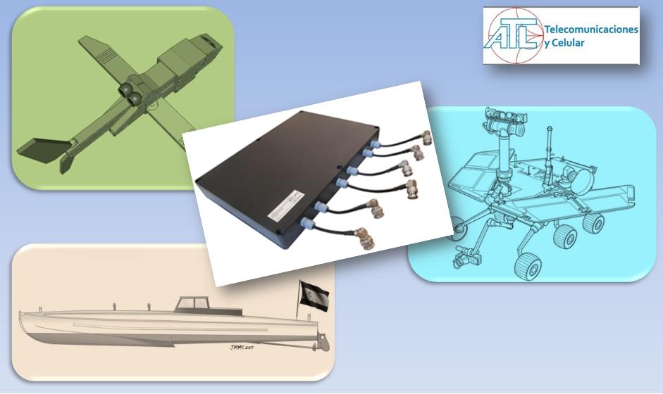 Antena para televigilancia y telemetría sobre vehículos no tripulados